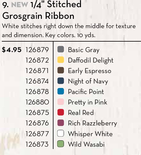 Colors Stitched Grosgrain