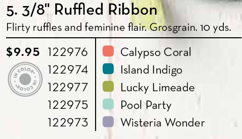 Colors Ruffled Ribbon