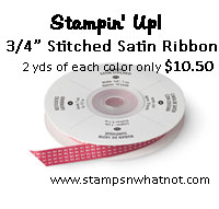 StampsNWhatnot's Stampin Up Stitched Satin Share