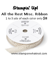 StampsNWhatnot's Stampin Up Misc Ribbon Share