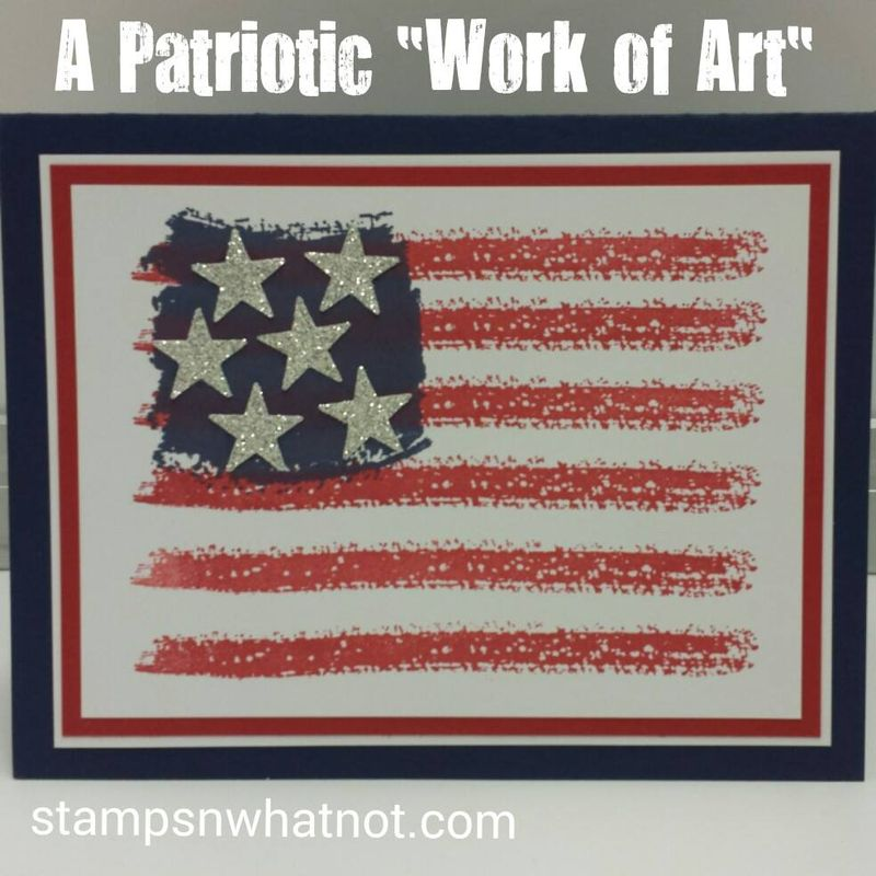 Patriotic Work of Art by StampsNWhatnot