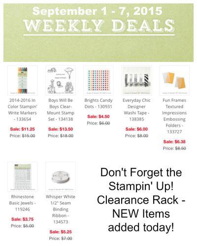Weekly Deals Sept 1 - 7