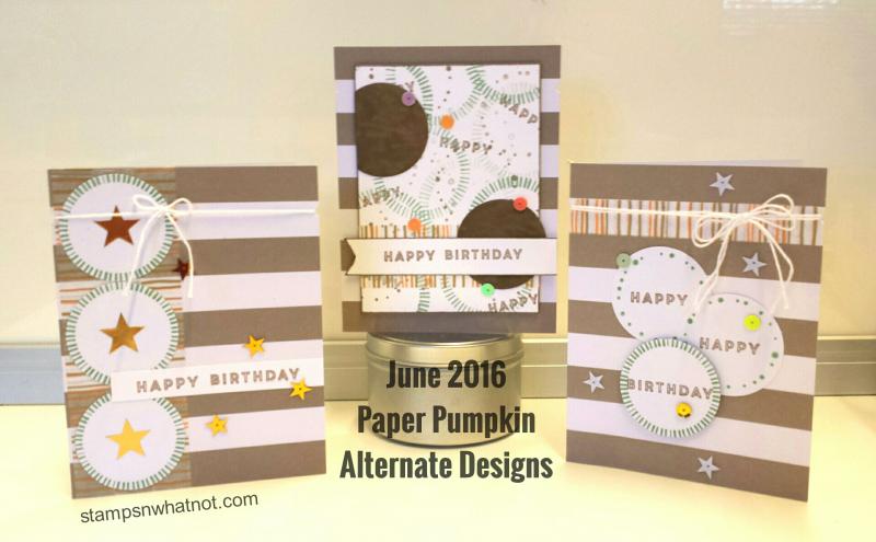 Jeannette's Paper Pumpkin Alternatives for June 16