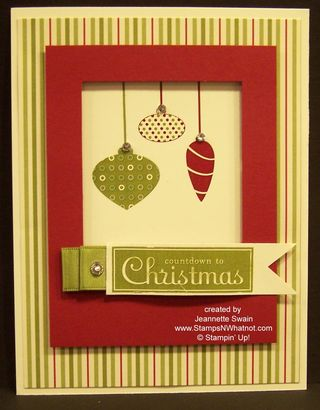 Stampin Up Cards Galore Ornaments
