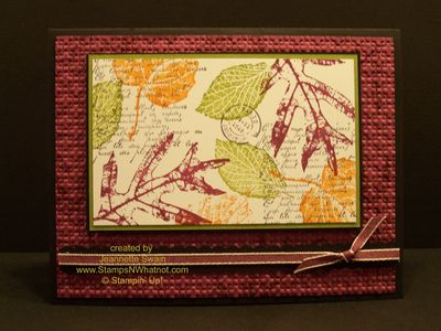Stampin Up Fall Foliage #120845