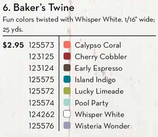 Colors Bakers Twine