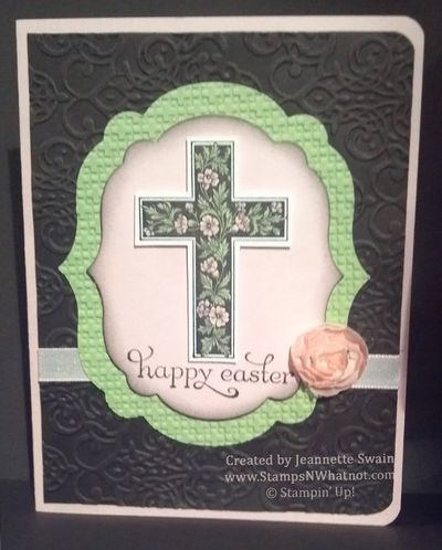 StampsNWhatnot A Happy Easter Card Using Crosses of Hope by – Easter Cards Stampin Up