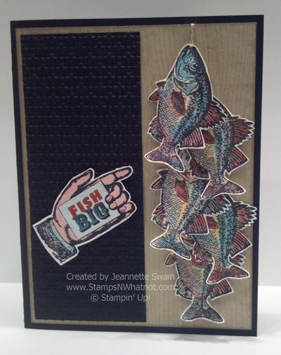 By the Tide - Fish Big Card - Jeannette Swain
