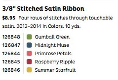 Stitched Satin colors