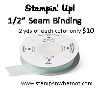 StampsNWhatnot's Stampin Up Seam Binding Share