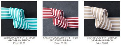 Stampin Up Striped Grosgrain Share StampsNWhatnot