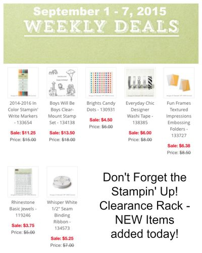 Weekly Deals Sept 1 - 7