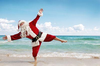 Santa-on-beach