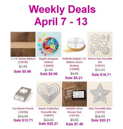 Weekly Deals Apr 7 - Apr 13