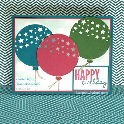 Balloon Card by Jeannette Swain
