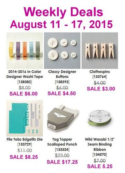 Weekly Deals Aug 11 - 17