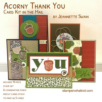 Acorny Thank You by Jeannette