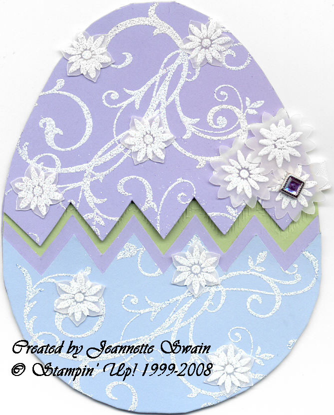 Easter Card Featuring Various Stampin' Up! Sets - Bloggers Challenge